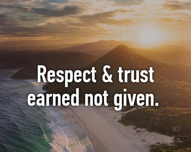 Respect vs Trust